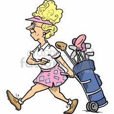Golf Sayings Cartoon women golfer pulling her golf clubs - Cartoon women golfer pulling her golf clubs Golf Card Game, Golf Quotes, Golf Sayings, Used Golf Clubs, Royalty Free Clipart, Club Face, Perfect Golf, Golf Lessons, Golf Humor