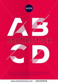 Typographic alphabet in a set with vibrant colors and minimal design - stock vector Brand Identity Design, Branding Design, Logo Design, Arquitectura Logo, Glitch Font, Self Branding, Typography Alphabet, Web Design Projects, Geometric Logo