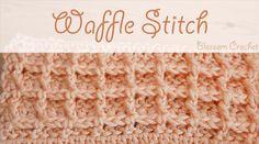 Waffle Stitch Crochet Tutorial Vol 2 – Design Peak Fast Crochet, Crochet Daisy, Learn To Crochet, Simple Crochet, Crochet Shoes, Crochet Granny, Crochet Waffle Stitch, Crochet Stitches, Crochet Cowls