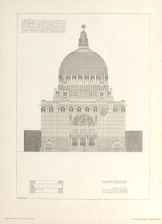 Lower Austrian Provincial Sanatoria and Convalescant Institutions, 1906 Otto Wagner, Koloman Moser, Maker, Black And White Colour, Kirchen, Taj Mahal, Museum, Artist, Architectural Drawings