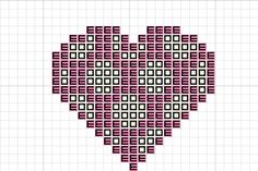 Craft with Ruth Cartwright: Free spotty heart cross stitch pattern