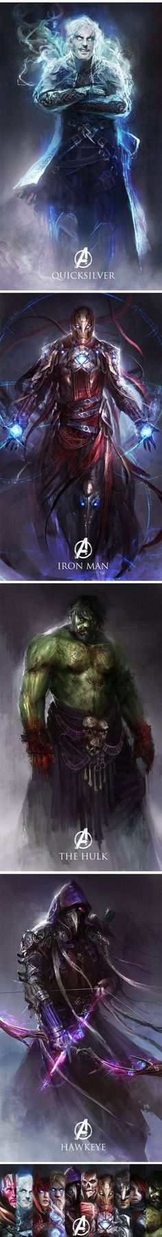 Age Of Ultron Characters Re-imagined As Medieval Fantasy: