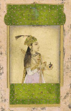A noble lady, Mughal dynasty, India. 17th century.