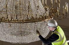 """""""Our Ballroom chandeliers have approximately individual crystals per fitting Drawing Room, Edinburgh, Backdrops, Restoration, Rooms, Ceiling Lights, Contemporary, Crystals, Chandeliers"""