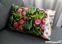 Learn to sew a pretty pillowcase with a cuff and hidden seams. Video tutorial and free PDF.