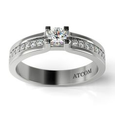 Inel de logodna cu diamante Yasha din aur alb
