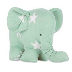 Baby´s Only Strick-Elefant mit Sternen in mint/weiß 30cm bei Fantasyroom