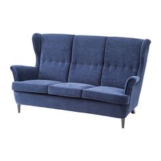 STRANDMON Three-seat sofa IKEA The high back gives good support for your neck and head.