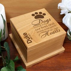 PERSONALIZED DOG PAW PET URN CREMATION MEMORIAL WOODEN Pet Urn - http://pets.goshoppins.com/pet-memorials-urns/personalized-dog-paw-pet-urn-cremation-memorial-wooden-pet-urn/
