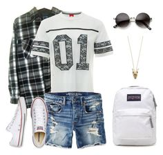 """Untitled #628"" by patrisha175 ❤ liked on Polyvore featuring NIKE, American Eagle Outfitters, Converse, House of Harlow 1960 and JanSport"