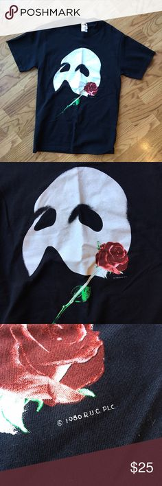 Vintage 1986 Phantom Of The Opera T Shirt Wow!! A shirt from 1986. In good shape too! Size small. Phantom of the opera is an amazing talent and this is an amazing vintage item to have in your collection. band tee Tops Tees - Short Sleeve
