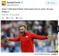 #RusselCrowe #Polska #kwejk Russell Crowe, Poland, Work Hard, Wellness, Humor, Funny, Working Hard, Humour, Funny Photos