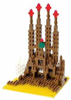 Nanoblock Architecture NBH-004 - Sagrada Familia by Kawada. $18.95. For Ages 12+. Level 4. World's Smallest Block. Looks nice next to your computer!. Made in Japan. Nanoblock is a micro-sized building block system with its smallest parts being a mere 4x4x5mm. It is a stimulating hobby material for everyone, but especially for grown-ups who wish to be absorbed in making projects in great detail.
