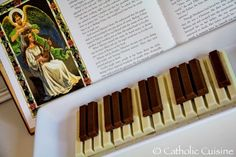 Cecilia Catholic Cuisine: A Simple and Sweet Treat for the Feast of St. Catholic Feast Days, Saint Feast Days, Catholic Kids, Roman Catholic, All Saints Day, Little Flowers, Teacher Appreciation, Food Art, Kids Meals