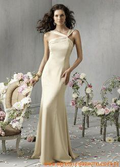 2013 Sexy Abendkleide aus Stretchsatin Rückenfrei Kolumne
