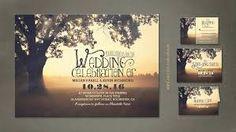 rustic wedding invitations tree - Google Search