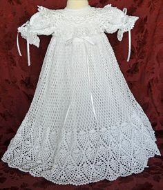 White Christening / Blessing Gown and Slip -  Baby Dress - 3 - 6 Months - READY to SHIP -  13127-G