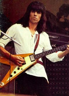 Keith Richard's & his Flying V 'You've got the sun, you've got the moon, and you've got the Rolling Stones.'