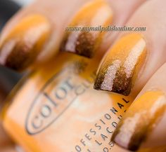 It reminds me of butterscotch. =)  Fall gradient