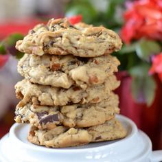 Thick Chocolate Chunk Pecan Cookies                                                                                                                                                                                 More
