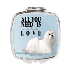 My Fantasy Artwork Man Card, Maltese Dogs, Compact Mirror, Fantasy Artwork, Puppys, All You Need Is, Girls Best Friend, Puppy Love, Great Gifts
