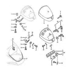 diagram for instrument gauge and lights VW Shit Vw