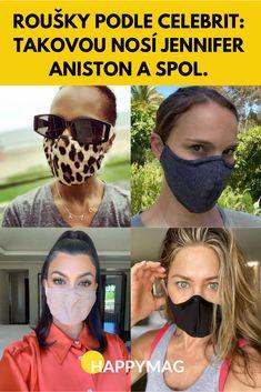 Jakou roušku nosí známé celebrity? Podívejte se na trendy roušky podle celebrit a pořiďte si stejnou, jakou nosí Jennifer Aniston nebo Natalie Portman. #rouska #rouška #roušky #rousky #jakvyrobitrousku #facemask