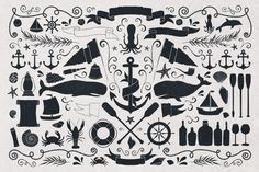 The Nautical Vector Pack by MakeMediaCo. on Creative Market