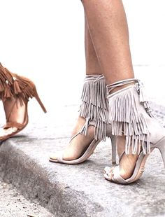 There's a fringe party and it's on your feet.