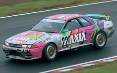 Axia Nissan Skyline GT-R of Masahiko Kageyama and Kazuo Shimizu from Object T (competing in the 1991 Japanese Touring Car Championship) - the '92 colour scheme (with black instead of silver and with the future Mr. Le Mans, Tom Kristensen, replacing Kageyama) is better if only I can find an image of it.