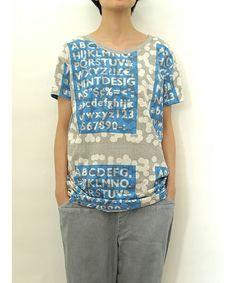 mintdesigns(ミントデザインズ)のPRINT-T(Tシャツ/カットソー) ブルー