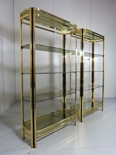 2 Display cabinets from the seventies by unknown designer for unknown producer