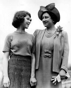 Princess (now Queen) Elizabeth and Queen Elizabeth (the Queen Mother)