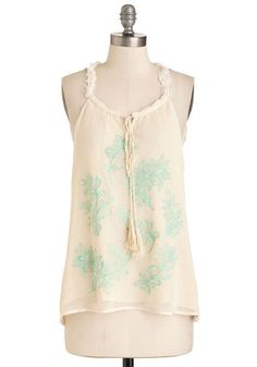 Music to My Cheers Top. The stage lights dim, and youre still applauding along with the crowd in this netted ivory top. #cream #modcloth