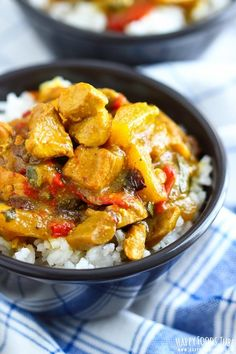This Instant Pot Chicken Curry is the perfect weeknight dinner for busy families! 5 minutes cooking time is all it takes to make this in your pressure cooker!
