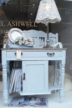 Shabby Chic Rachel Ashwell pale blue sideboard ~ lovely!
