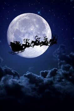 Santa Clause Sledge Raindeer iPhone 5 Wallpaper