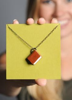 Womens Book Necklace