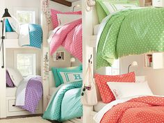 I love the PBteen Dottie Bunk Bedroom on pbteen.com Great idea for the apartment in Hyattsville, MD. 4 bunkbeds for the girls - in master suite 2-Apartment in Hyattsville, MD Thoughts for 2 bedroom apartment in Hyattsville.