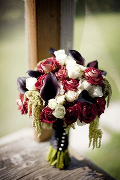 LOVE this bouquet for our bride  done by http://www.thefloralfixx.ca/   Image courtesy of http://www.michellezerrphotos.com/   Event planning by http://www.madelinesweddings.com