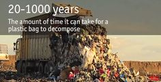 20-1000 years - the amount of time it can take for a plastic bag to decompose.
