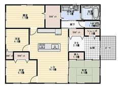 30thiraya0910 Floor Plants, Small Studio, Ideal Home, House Plans, Layout, House Design, Flooring, How To Plan, Interior