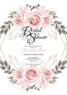 Customize this design with your video, photos and text. Easy to use online tools with thousands of stock photos, clipart and effects. Free downloads, great for printing and sharing online. A4. Tags: bridal shower, bridal shower invitation, floral bridal shower, floral bridal shower invitation, Wedding , Wedding