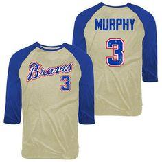 Men s Atlanta Braves Dale Murphy Majestic Threads Tan Cooperstown Player  Name   Number Raglan T-Shirt 99ac75476