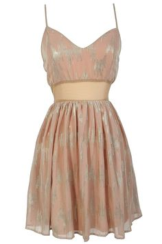 Sweet dress in silver and blush