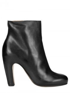100mm Calfskin Low Boots - Lyst