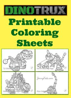 Dinotrux Printable Coloring Sheets