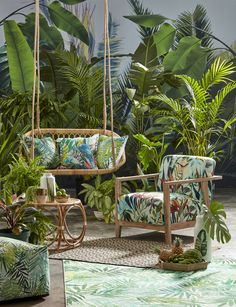 Shop The Trend Tropical Paradise Shop The Trend Tropical Paradise The Tropical Trend Is Dominating This Season And We Re All For It Freshen Up Your Shop The Trend Tropical Paradise Sa Garden And Home Tropical Patio, Tropical Interior, Tropical Home Decor, Tropical Houses, Tropical Paradise, Tropical Furniture, Tropical Outdoor Decor, Small Patio Furniture, Paradise Garden