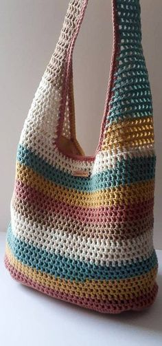 48 Free and Glam Crochet Bags Pattern Ideas for 2020 Part 36 48 Free and Glam Crochet Bags Pattern Ideas for 2020 Part 36 crochet bag easy crochet bags purses knitting bag sewing pattern crochet bag Free Crochet Bag, Crochet Market Bag, Crochet Tote, Crochet Handbags, Crochet Purses, Knit Crochet, Bag Sewing Pattern, Bag Pattern Free, Bag Patterns To Sew
