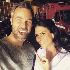JR Bourne and Melissa Ponzio on the set of #TeenWolfSeason5B!!!
